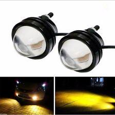 2x Car Yellow 5W CREE LED Fish Eyes Fog Light DRL Running Daytime Lamp Bulb