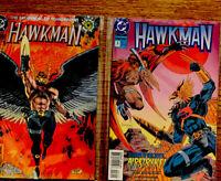 """""""HAWKMAN""""- ISSUE #0 & #3   DC COMICS--OCT.94-NOV 93 """"MINT"""" IN PLASTIC #8"""