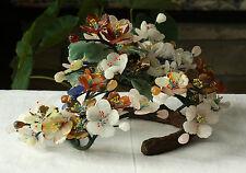 RARE BIG 13'' wide Vintage Chinese Jade tree style Centerpiece/decoration