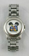 Vintage Collect Disney Channel Mickey Mouse Silver Tone Watch Needs Battery Y37