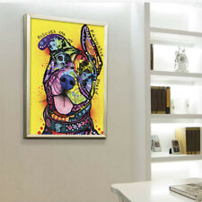 Modern Abstract Oil Painting Colorful Dog Huge Wall Decor Art On Canvas Unframed