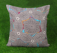 Bohemian Dari Embroidered Cushion Cover Cotton Decorative Throw Pillow Cover