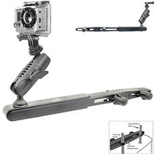 "Center Headrest Mount GoPro Dual Rotation 1"" Ball Joint and Socket Arm Video Rec"