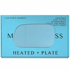 Left side Wide Angle Blue Wing mirror glass for Subaru Legacy 94-03 heat +plate