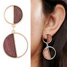 Geometric earrings square wooden earrings drops pendant earrings vintage.jewelry