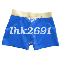 Latex Rubber Men Hip Sexy With Hole Underwear Size S-XXL