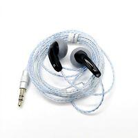 Earphones Flat Head Plug DIY Earphone In-Ear HiFi Bass Earbuds Sound Quality