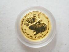 2011 P Australia Gold Lunar Series II Year of the Rabbit 1/20 oz $5 - BU