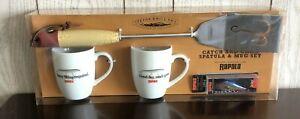 New Teton Grill Company Catch and Cook Spatula & Mug Set TETRAP01, Rapala Lure!!