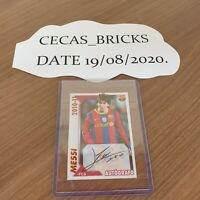 LIONEL MESSI - BARCELONA 2010/11 PANINI STICKER NO# 119 MINT autografo