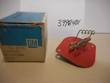 71 - 77 Chevrolet, Olds, Buick Heater & A.C. Blower Motor Resistor, NOS, GM