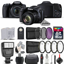 Canon PowerShot SX530 HS Digital Camera+ Flash + 7PC Filter + EXT BAT - 16GB Kit