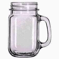 Vintage Wedding Clear Mason Jar 16oz Drinking Jar with Handle Glass Mug