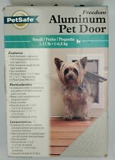 PetSafe Aluminum Small 2-Way Locking pet door, White, new in box