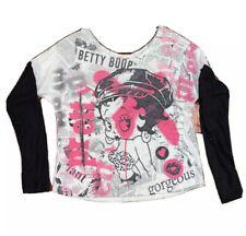 Betty Boop Sweater Long Sleeve Sweatshirt Women medium, classic brand