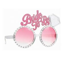 BRIDE TO BE GLASSES HEN DO NIGHT PARTY ACCESSORIES BACHELORETTE *FREE* #led33