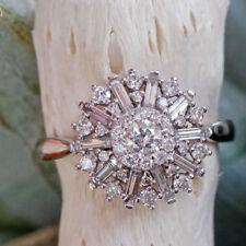 Brillant Ring 750er Gold 0.75 ct KRISTALLMOTIV WUNDERSCHOEN Wert ca. 2988.-Euro