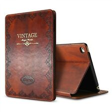Vintage Ultra Slim Leather Tablet Folio Case Smart Cover For iPad Pro 10.5 New