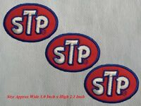 3pcs STP Racing Car Motorcycle Patch Embroidered Iron or Sew on Coat/Jacket/Hat