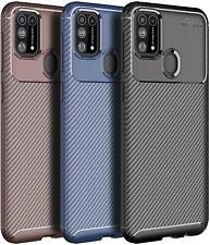 Nuevo teléfono de fibra de carbono estuche para Samsung Galaxy A10 A20e A40 A50 A70 J4 S10 Plus