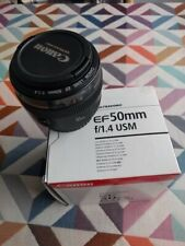 Objectif Canon EF 50mm f/1.4 USM - Comme neuf / neat + wrap de protection