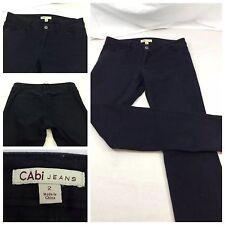 CAbi Jeans Size 2 Black Cotton Spandex Skinny Mint F6003 YGI