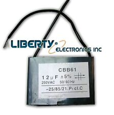 12UF 250V CBB61 Motor Start Run Fan Capacitor 2 Wire