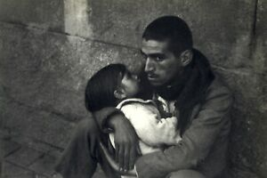 1952 Henri Cartier Bresson Unemployed Man caring for his child Madrid Art Photo