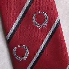 WREATH CLUB ASSOCIATION CREST TIE NECKTIE COMPANY LOGO SOCIETY 1980s 1990s RED