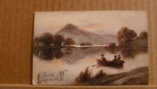 "Postcard posted 1917 Argyll & Bute ""Lock"" (Loch) Lomond"