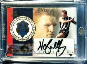 2004 AFL CONQUEST - Brownlow Medal SIGNATURE (BMS3) Nathan BUCKLEY 099/100