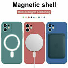 Silicone Case Cover with Magsafe Magnetic Ring for iPhone 12 Pro Max 11 Pro Max