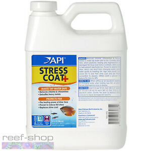 API Stress Coat 32oz Protects Fish Makes Tap Water Safe for Marine & Freshwater