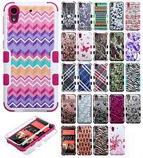 For HTC Desire 626 IMPACT TUFF HYBRID Protector Case Skin Cover + Screen Guard