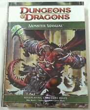 BOOK - D&D Dungeons & Dragons RPG Hardback Monster Manual 2008 4th Edition Book