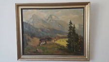Adolf Schlüter Ölgemälde Berglandschaft von 1942