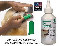 Dog Cat Pet Oral Care Dental GEL TOOTHPASTE&TOOTHBRUSH Reduce Plaque/Tartar