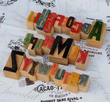 A-Z MIX Alphabet Holzlettern Plakatschrift Lettern characters printers wood type