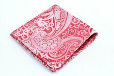 Lord R Colton Masterworks Tie - Ruby Silver Dust Paisley Silk Square - $75 New