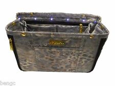 Pursen Illumin Lighted Purse Organizer Insert Metallic Gold Small Expandable