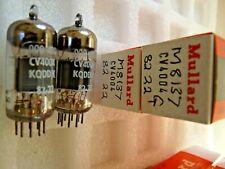 CV4004 M8137 ECC83 Mullard 82 22 Platinum Matched Pair G NOS Valve Tube F19