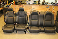 2004-2006 Pontiac GTO Black Leather Seats Set Front & Rear Used CORES ONLY