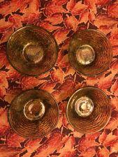 "4 Vintage Anchor Hocking Soreno Avocado Green 4 5/8"" fruit berry dessert bowls"