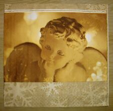"""Lot 3 serviettes en papier """"Ange doré"""" (Paper Napkins) scrapbooking, DIY"""