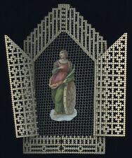 santino merlettato manufatto canivet 1800 S.CATERINA V.M.