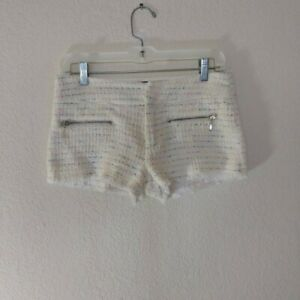 Zara TRF, size 4, EUC, cute tweed style shorts, White , Multi colored