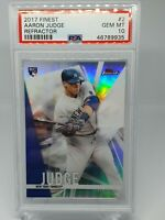 2017 Topps Finest Refractor ~ Aaron Judge ~ PSA 10 Gem Mint ~ Rookie RC ~...
