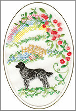 Munsterlander Rainbow Bridge Card Embroidered by Dogmania