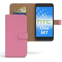 Tasche für HTC One M7 Case Wallet Schutz Hülle Cover Rosa