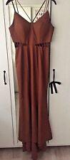 Jarlo Petite Strappy Maxi Dress With Waist Cutout Detail - UK Size 10 - Worn